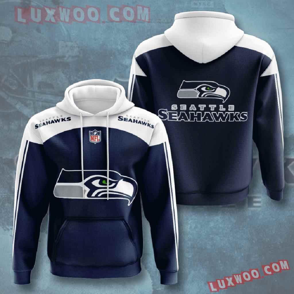 Nfl Seattle Seahawks 3d Hoodies Printed Zip Hoodies Sweatshirt Jacket V4