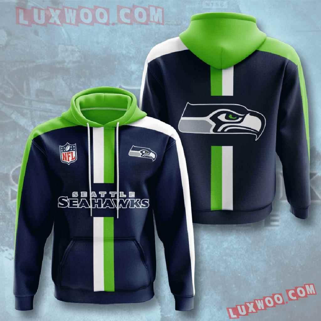 Nfl Seattle Seahawks 3d Hoodies Printed Zip Hoodies Sweatshirt Jacket V6