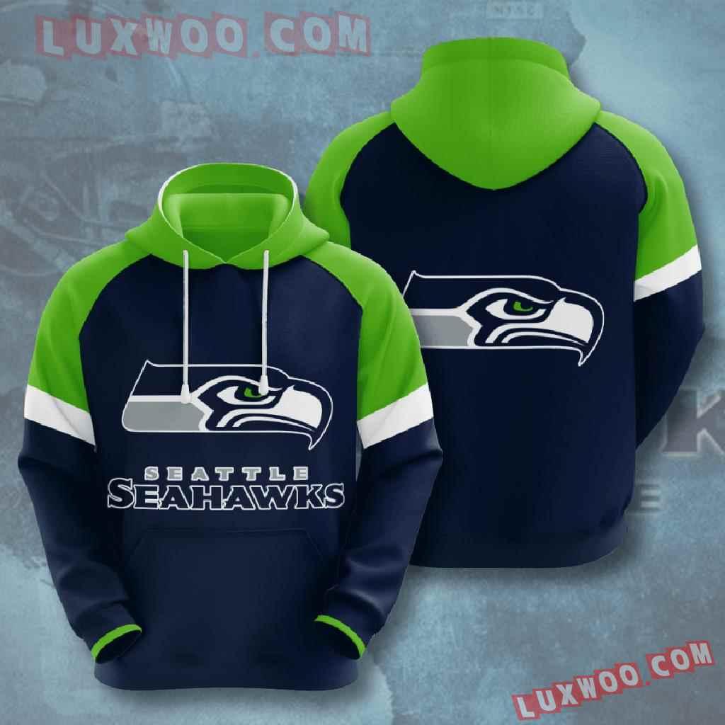 Nfl Seattle Seahawks 3d Hoodies Printed Zip Hoodies Sweatshirt Jacket V7