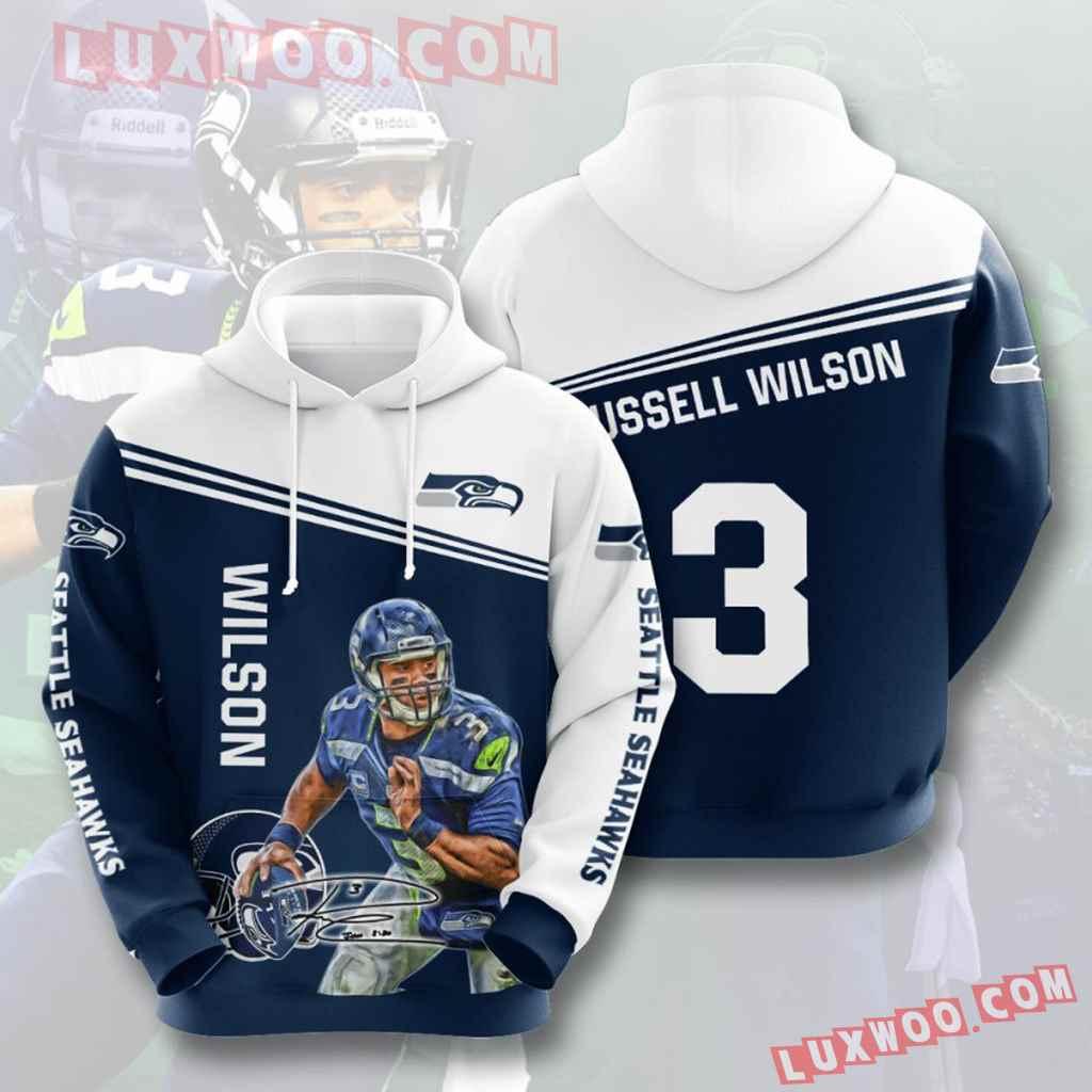 Nfl Seattle Seahawks 3d Hoodies Printed Zip Hoodies Sweatshirt Jacket V9