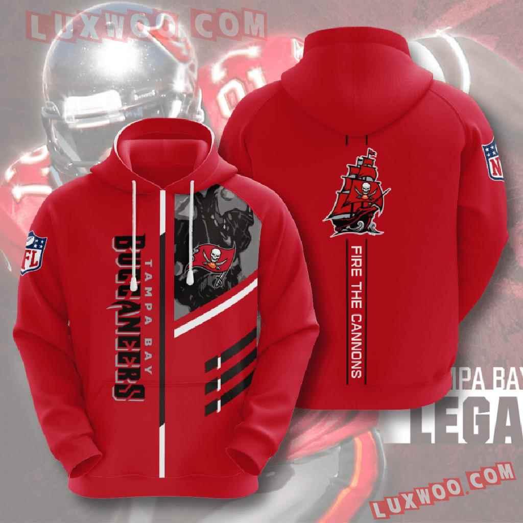 Nfl Tampa Bay Buccaneers 3d Hoodies Printed Zip Hoodies Sweatshirt Jacket V1