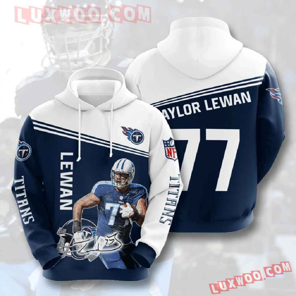 Nfl Tennessee Titans 3d Hoodies Printed Zip Hoodies Sweatshirt Jacket V10