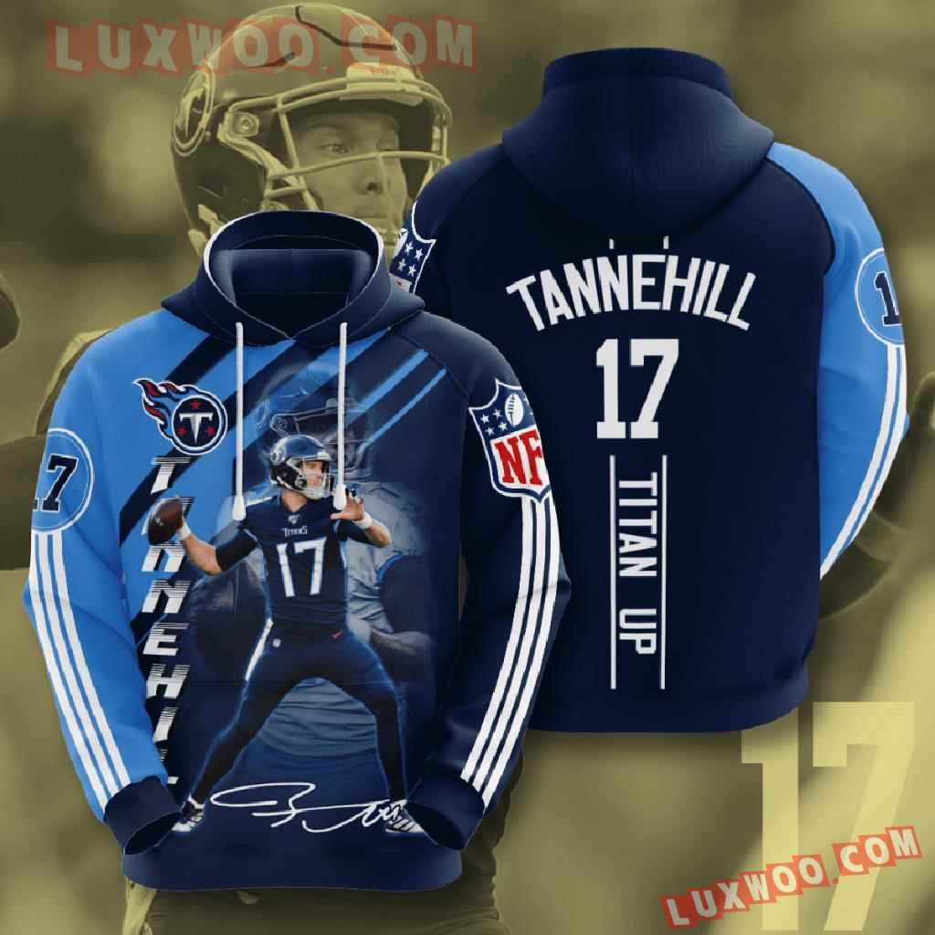 Nfl Tennessee Titans 3d Hoodies Printed Zip Hoodies Sweatshirt Jacket V15