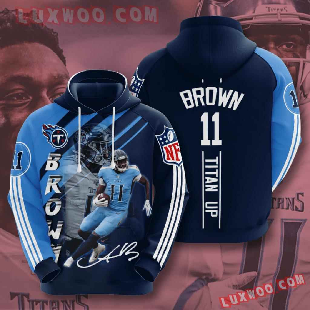 Nfl Tennessee Titans 3d Hoodies Printed Zip Hoodies Sweatshirt Jacket V16