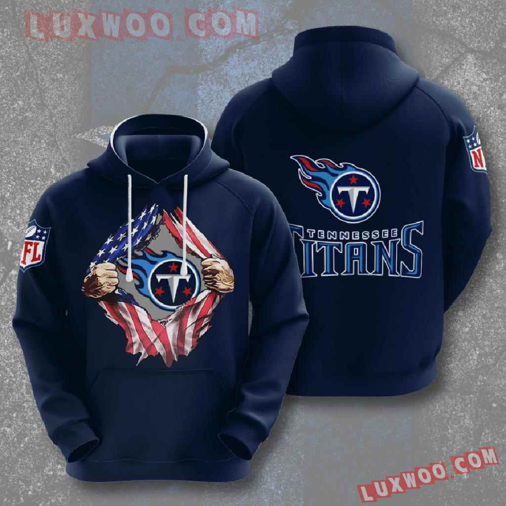 Nfl Tennessee Titans 3d Hoodies Printed Zip Hoodies Sweatshirt Jacket V2