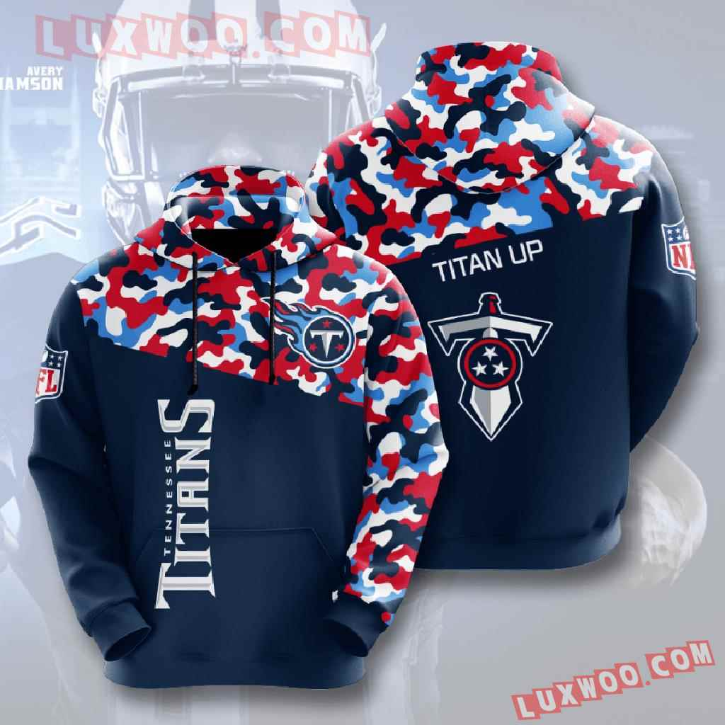 Nfl Tennessee Titans 3d Hoodies Printed Zip Hoodies Sweatshirt Jacket V3