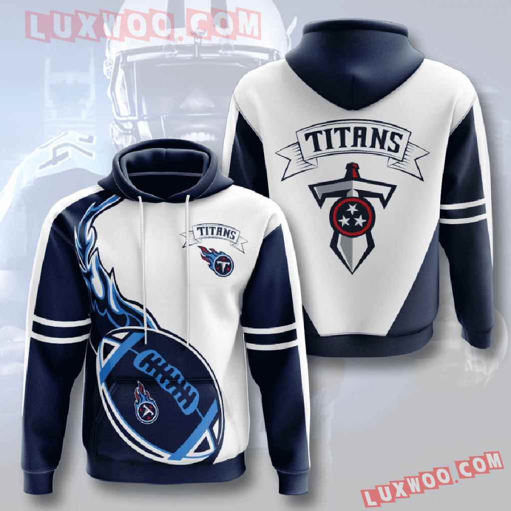 Nfl Tennessee Titans 3d Hoodies Printed Zip Hoodies Sweatshirt Jacket V4