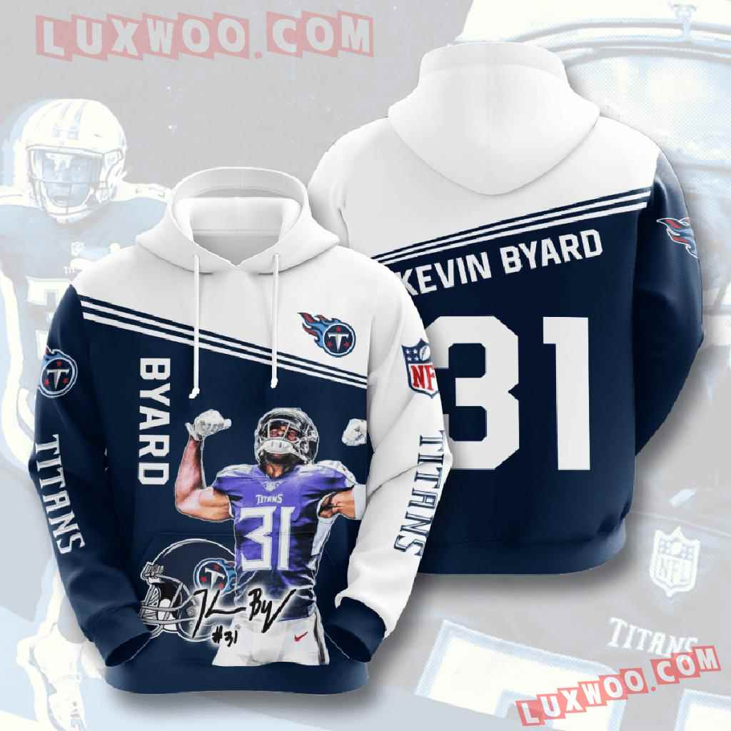 Nfl Tennessee Titans 3d Hoodies Printed Zip Hoodies Sweatshirt Jacket V7