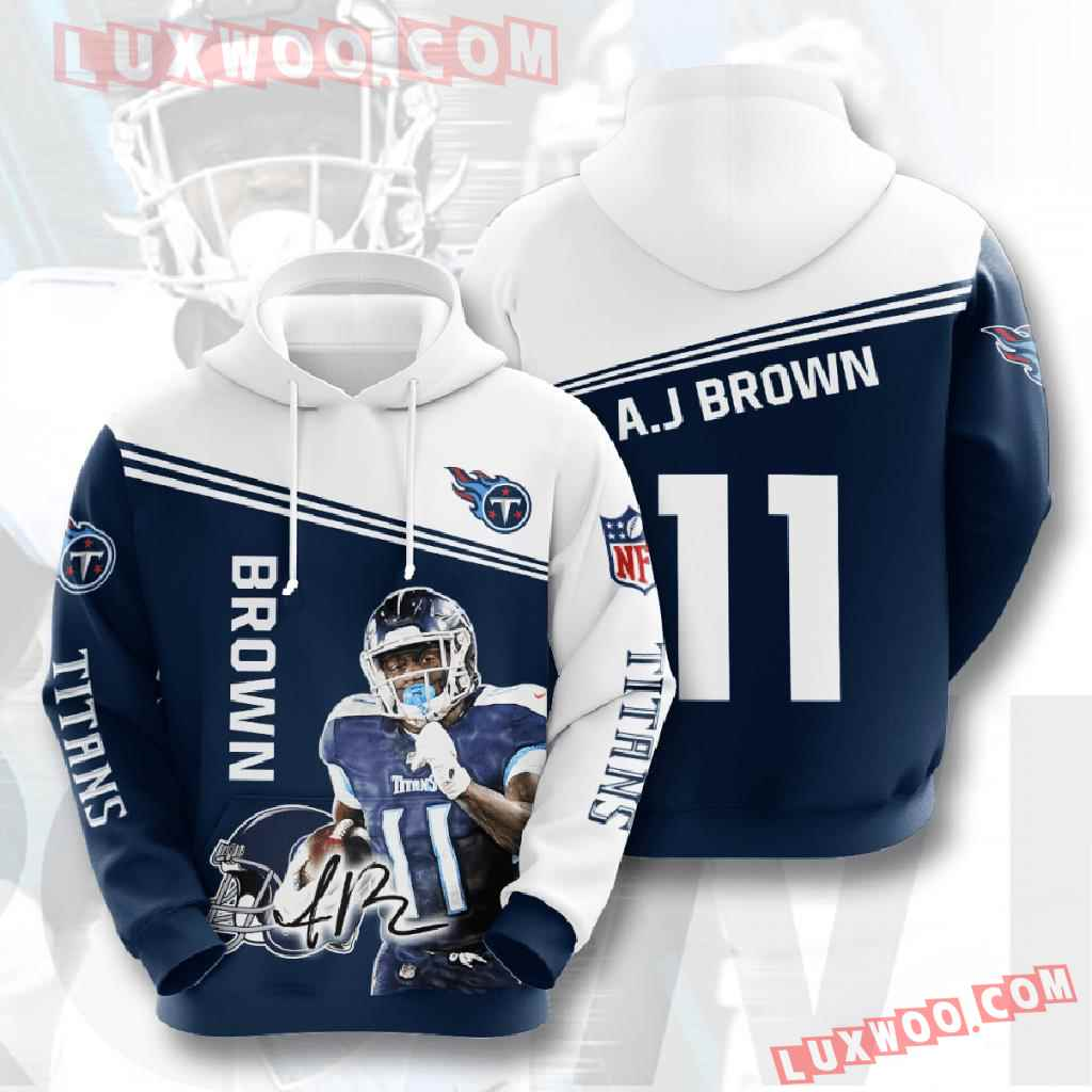Nfl Tennessee Titans 3d Hoodies Printed Zip Hoodies Sweatshirt Jacket V8