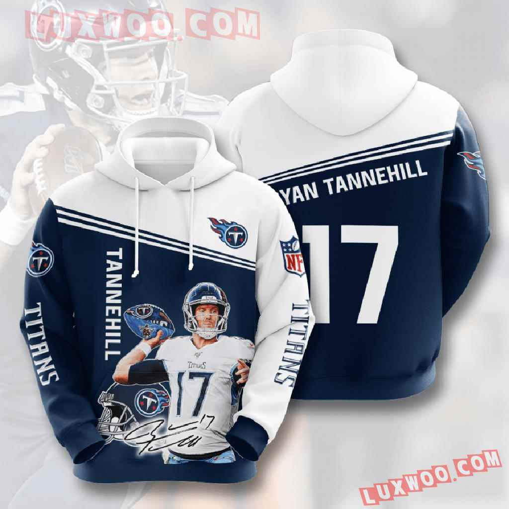 Nfl Tennessee Titans 3d Hoodies Printed Zip Hoodies Sweatshirt Jacket V9