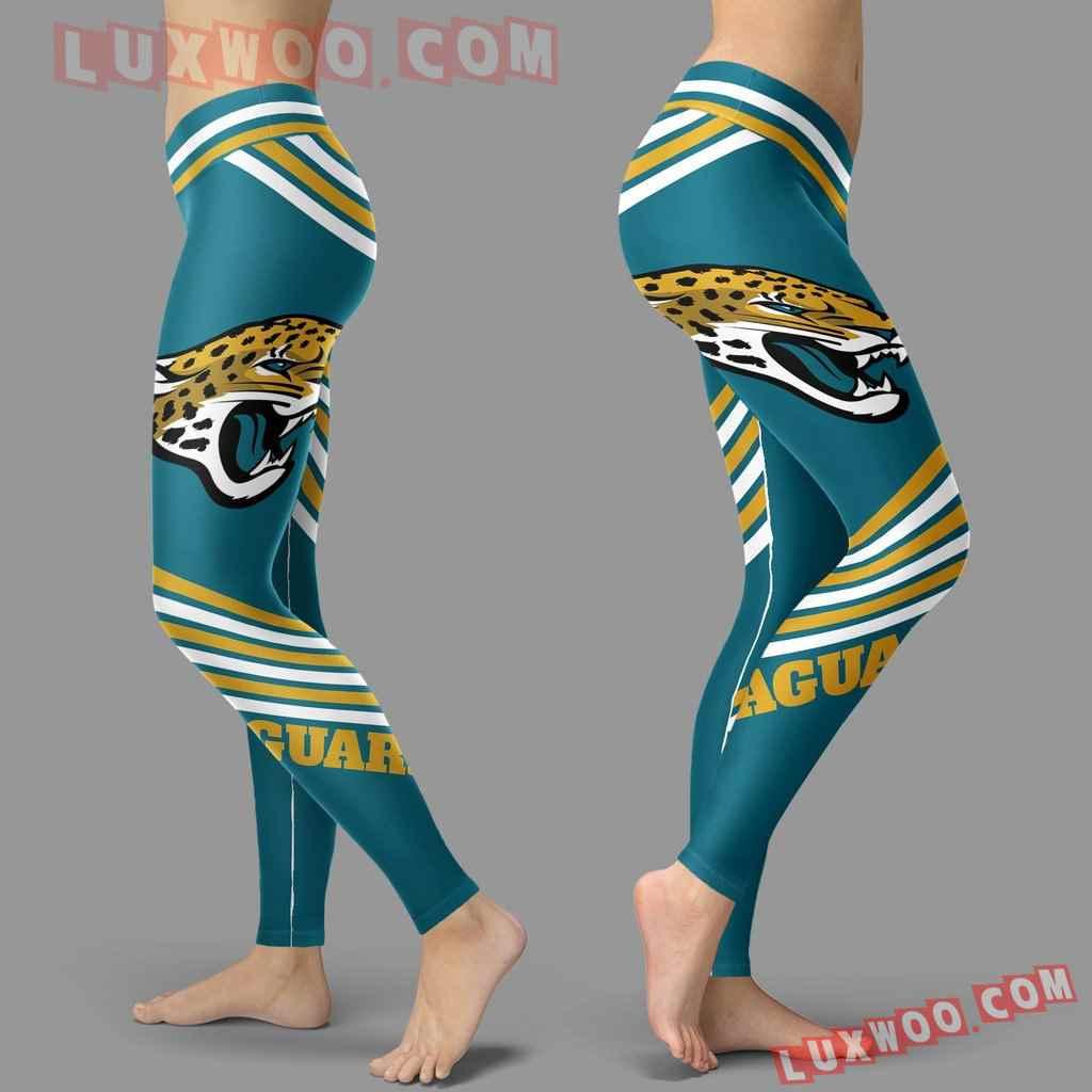 Nfl Jacksonville Jaguars Leggings 3d Custom Print Leggings Sport V2