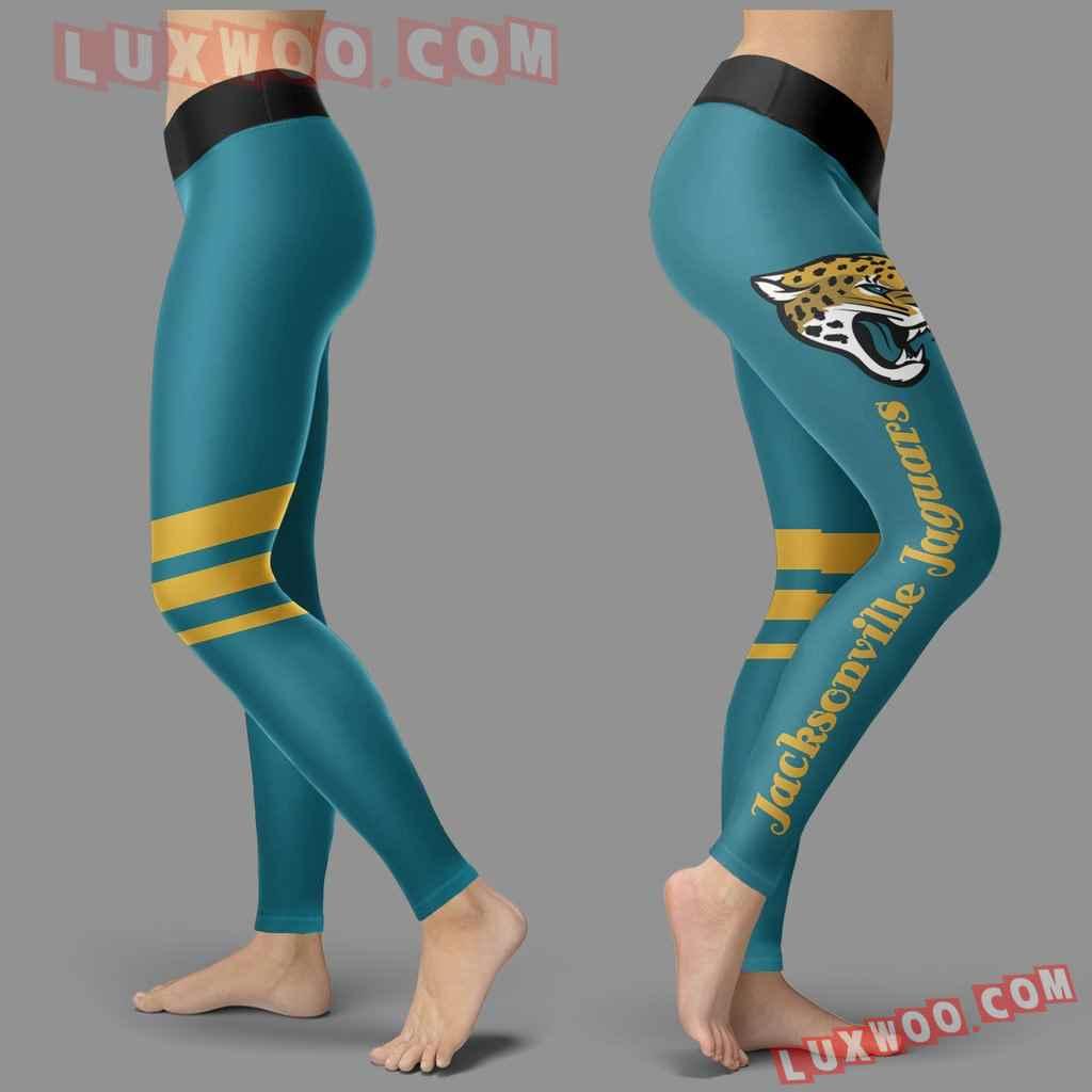 Nfl Jacksonville Jaguars Leggings 3d Custom Print Leggings Sport V3