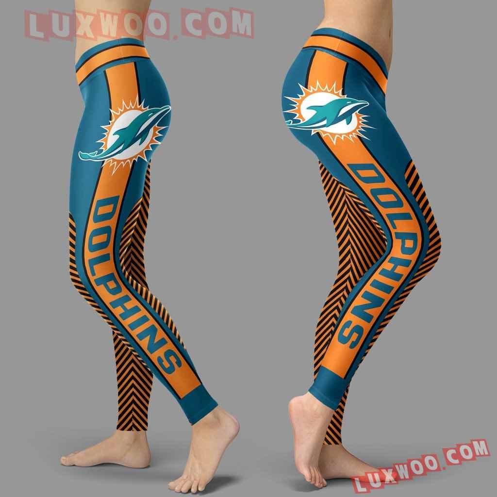 Nfl Miami Dolphins Leggings 3d Custom Print Leggings Sport V1