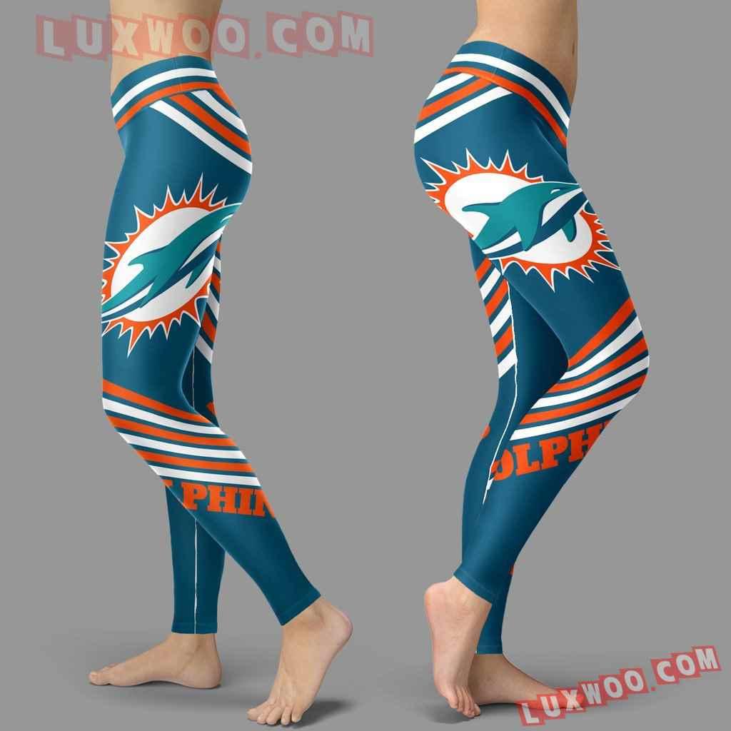 Nfl Miami Dolphins Leggings 3d Custom Print Leggings Sport V2
