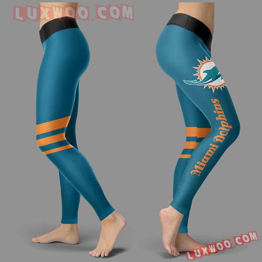 Nfl Miami Dolphins Leggings 3d Custom Print Leggings Sport V3