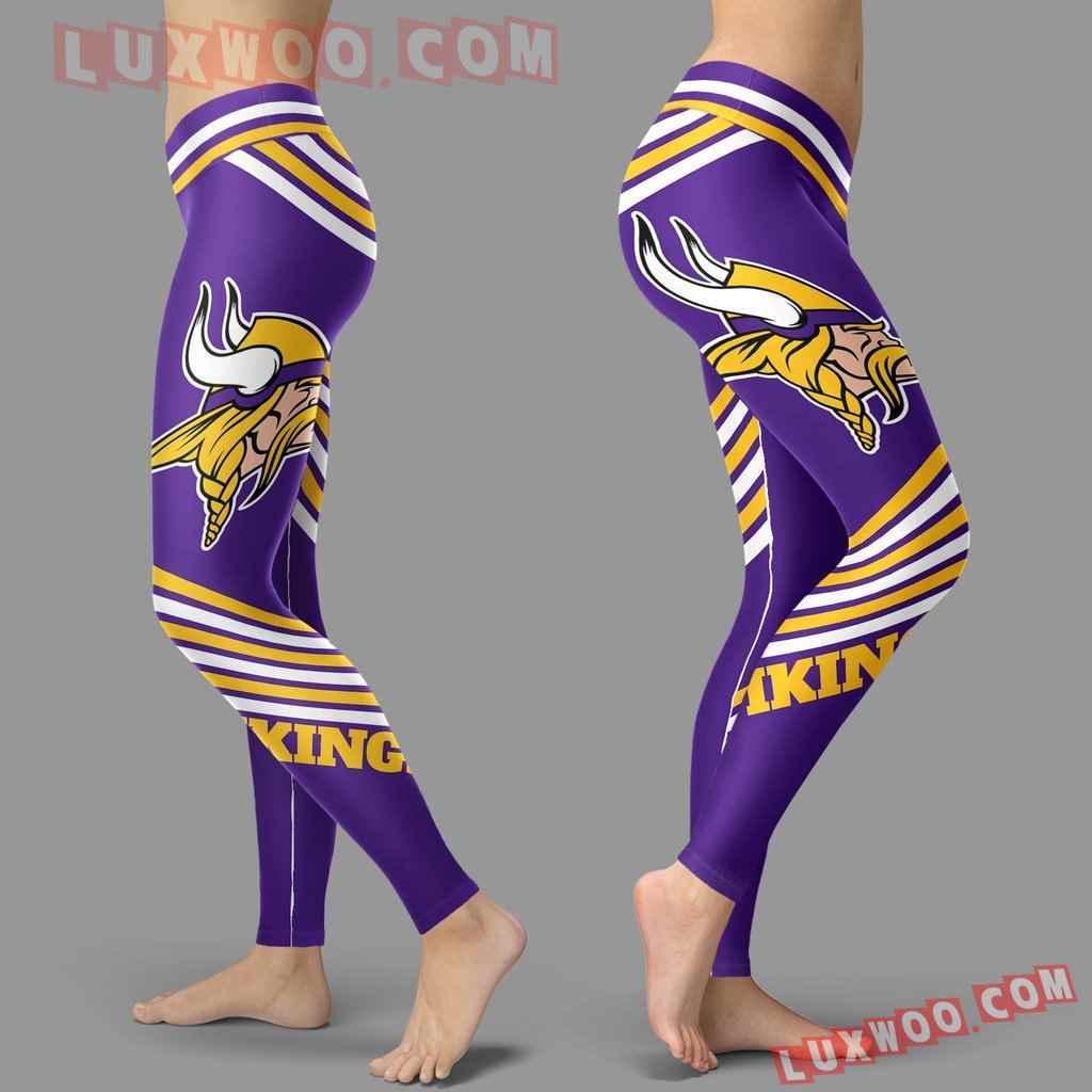 Nfl Minnesota Vikings Leggings 3d Custom Print Leggings Sport V2