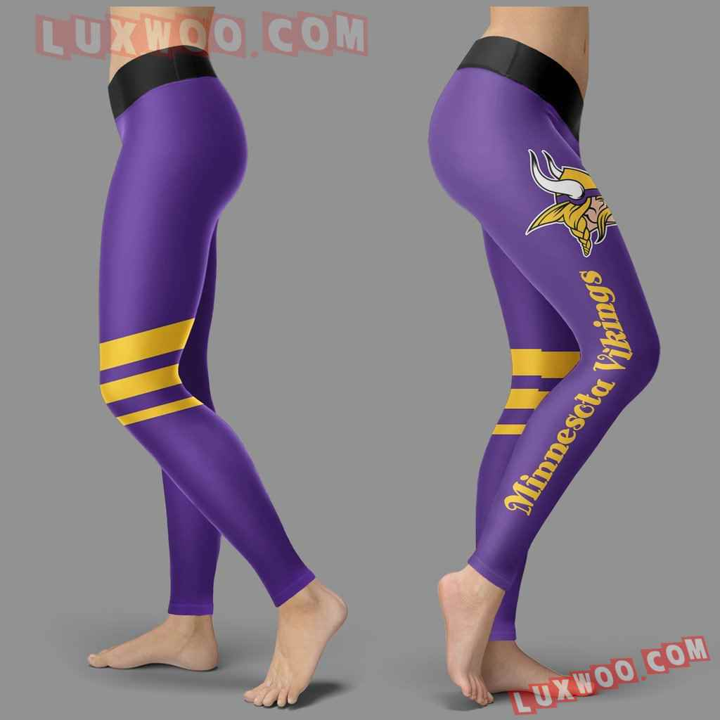 Nfl Minnesota Vikings Leggings 3d Custom Print Leggings Sport V3