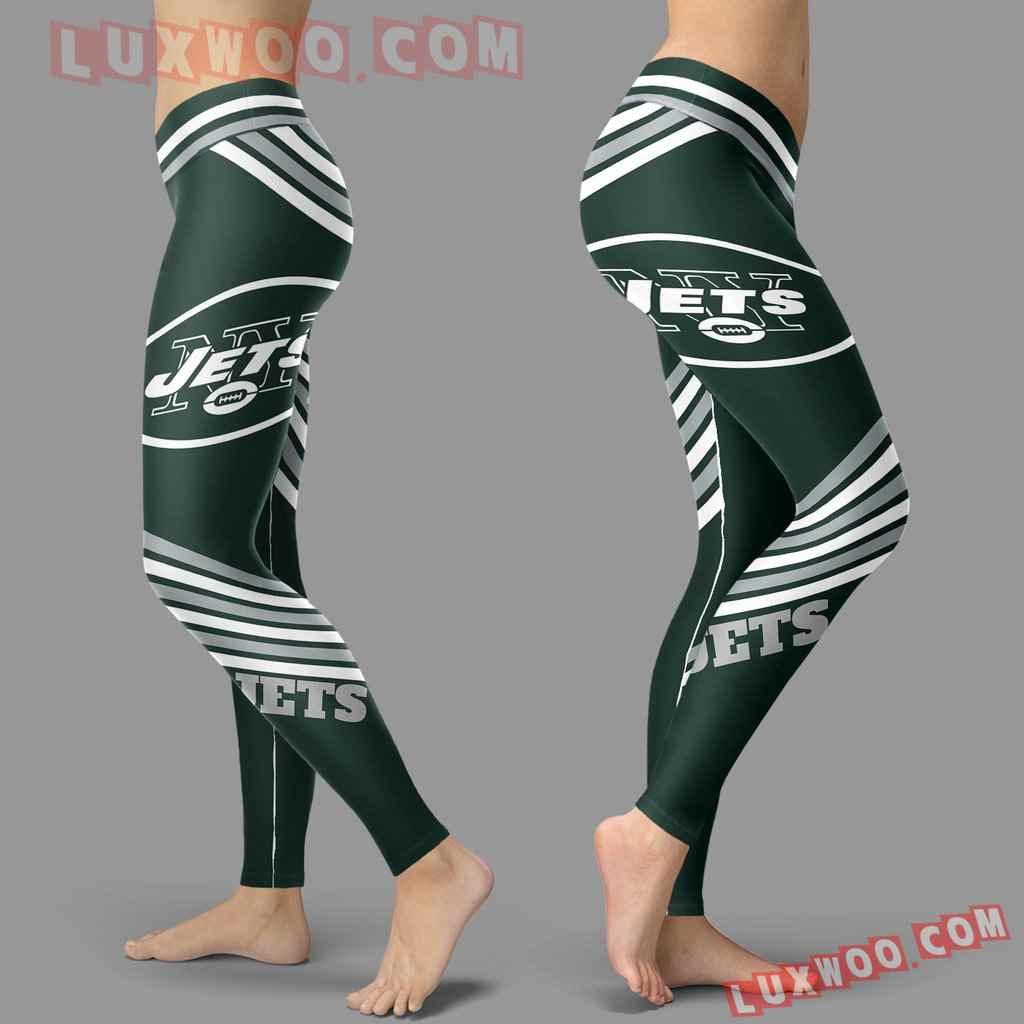 Nfl New York Jets Leggings 3d Custom Print Leggings Sport V2