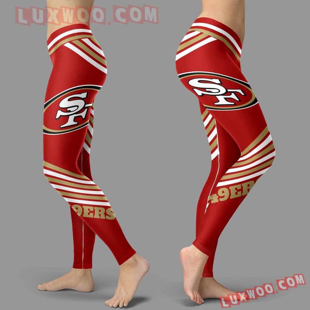 Nfl San Francisco 49ers Leggings 3d Custom Print Leggings Sport V2