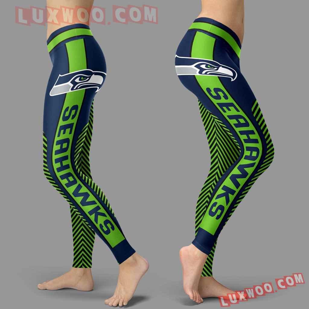 Nfl Seattle Seahawks Leggings 3d Custom Print Leggings Sport V1