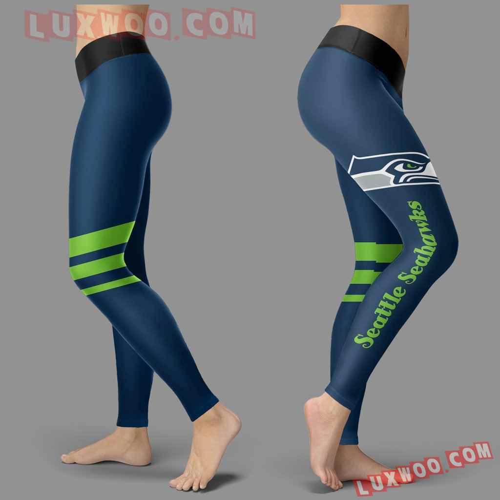 Nfl Seattle Seahawks Leggings 3d Custom Print Leggings Sport V3