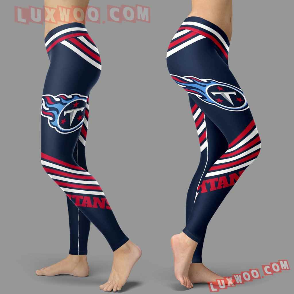Nfl Tennessee Titans Leggings 3d Custom Print Leggings Sport V2