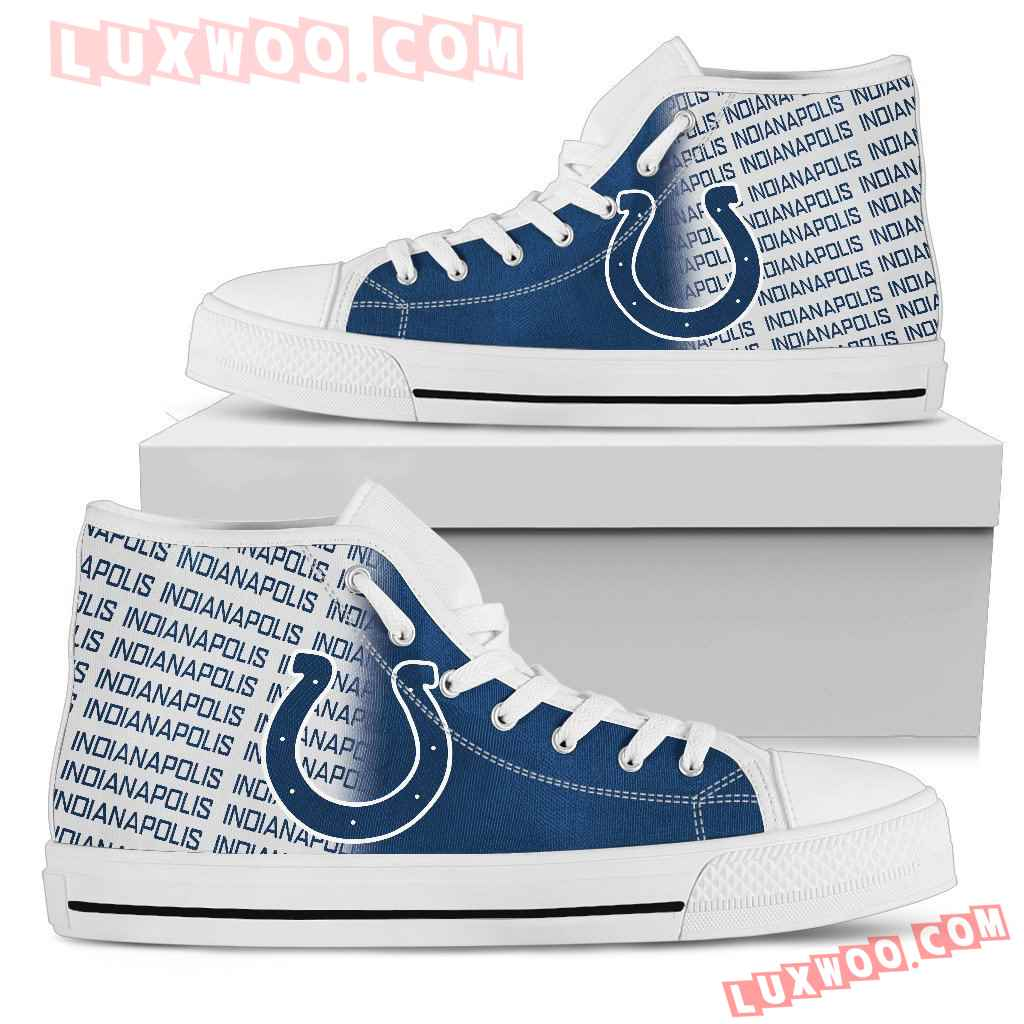 Nfl Indianapolis Colts High Top Shoes Sneaker Sport V1