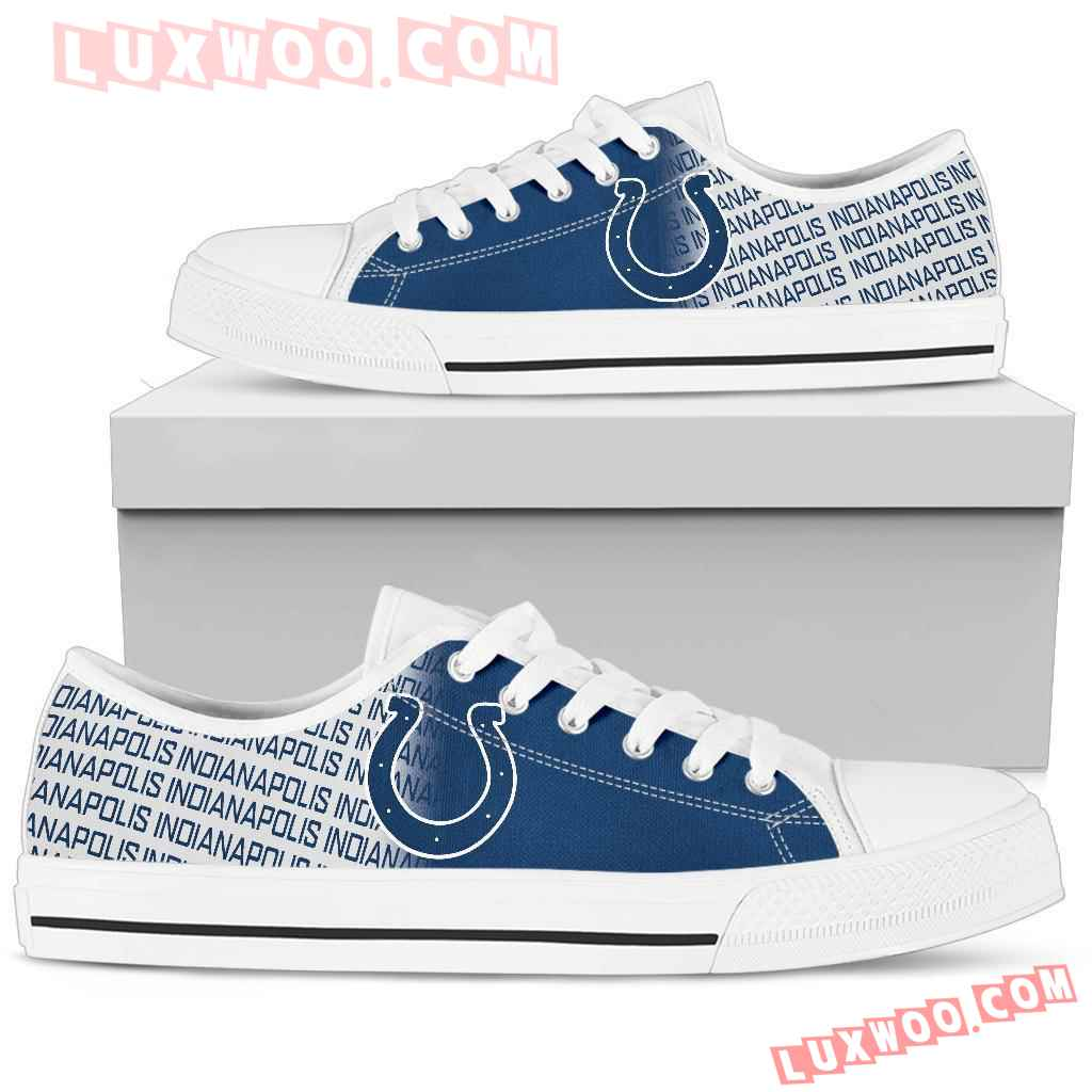 Nfl Indianapolis Colts Low Top Shoes Sneaker Sport V1