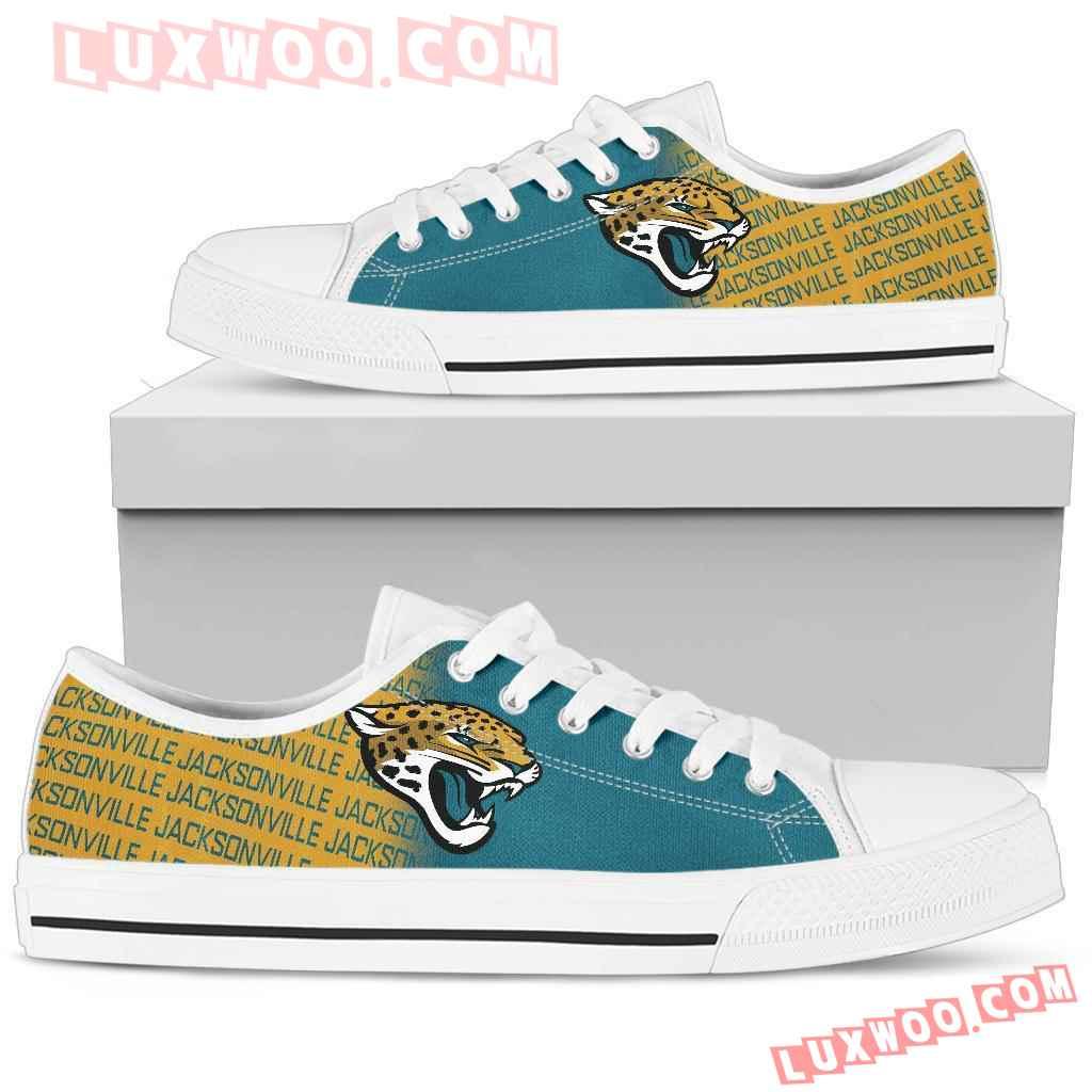 Nfl Jacksonville Jaguars Low Top Shoes Sneaker Sport V1