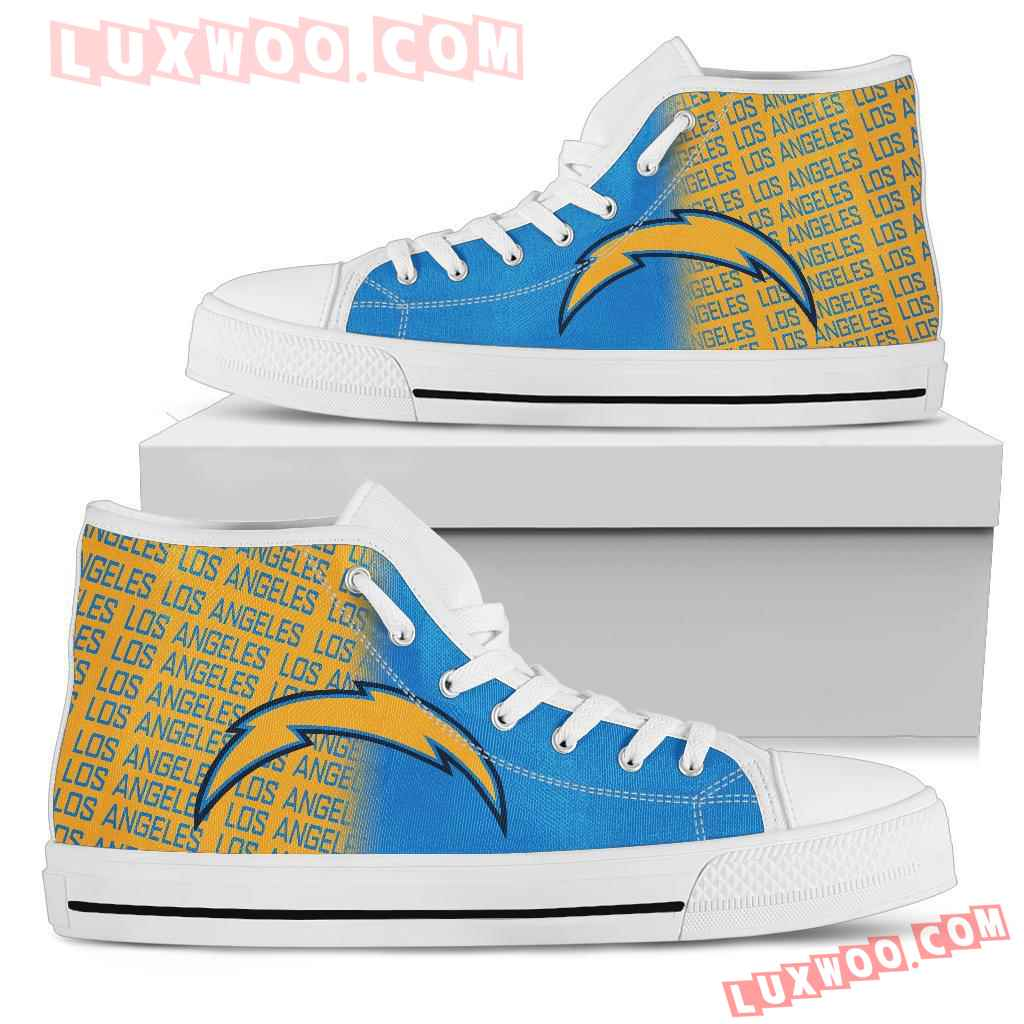Nfl Los Angeles Chargers High Top Shoes Sneaker Sport V1