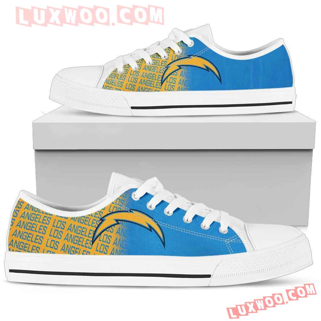 Nfl Los Angeles Chargers Low Top Shoes Sneaker Sport V2