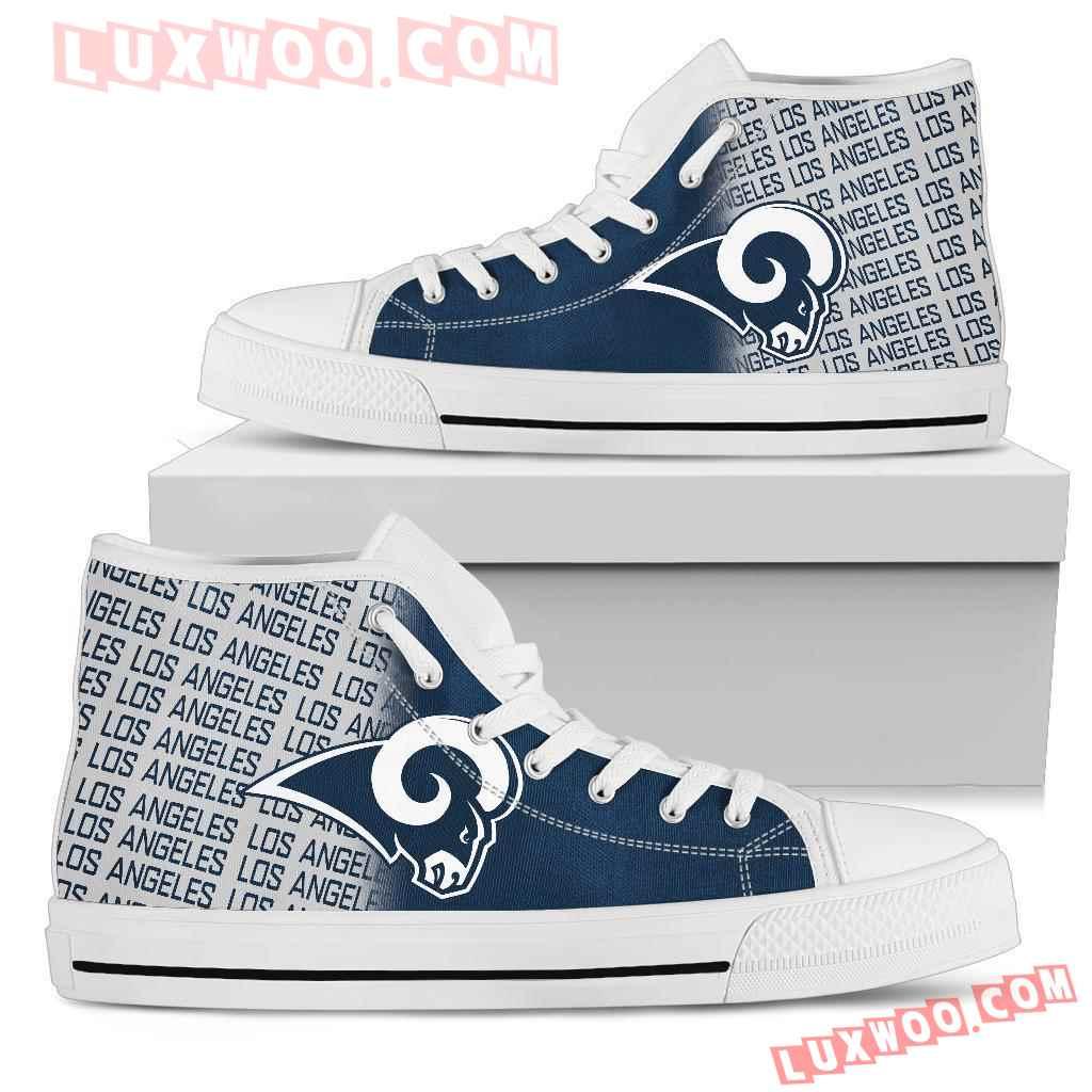 Nfl Los Angeles Rams High Top Shoes Sneaker Sport V1