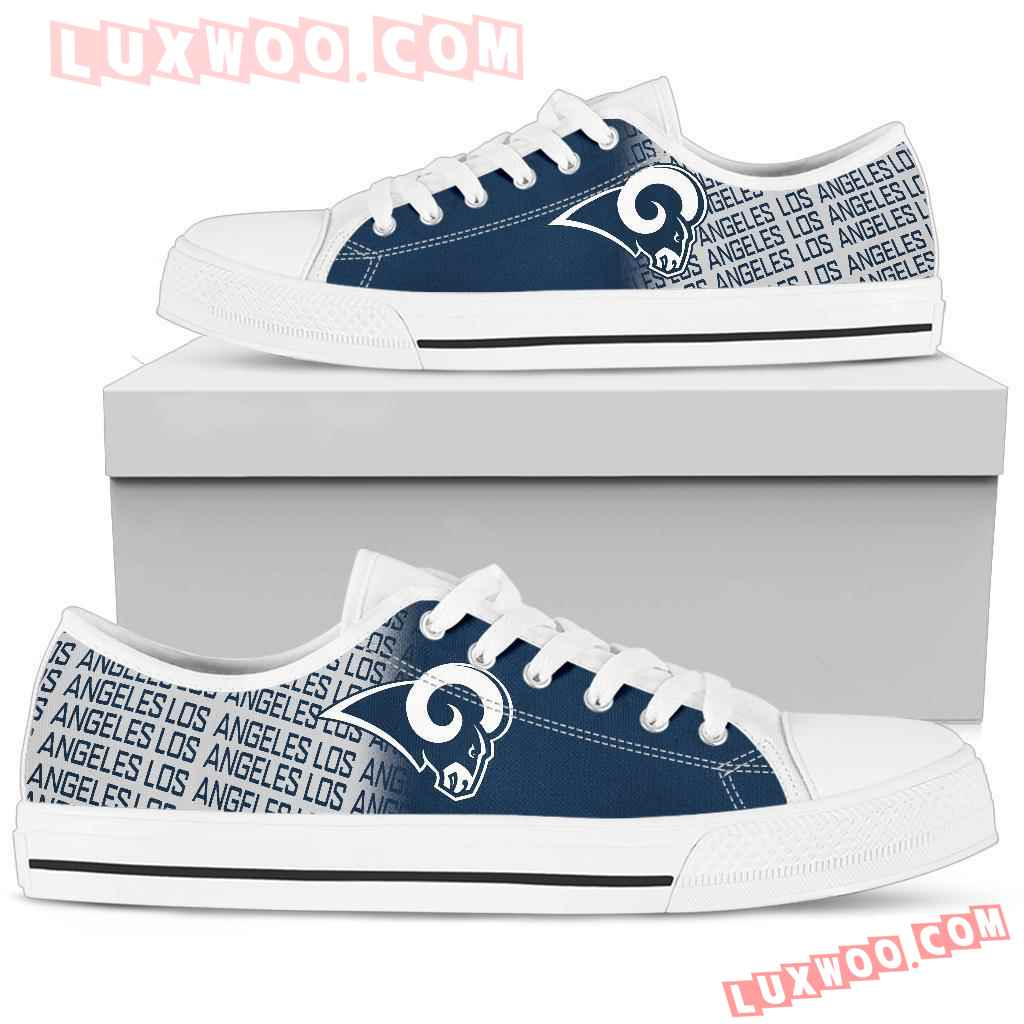 Nfl Los Angeles Rams Low Top Shoes Sneaker Sport V1