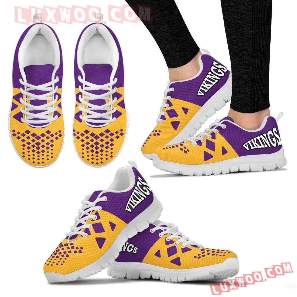 Nfl Minnesota Vikings Running Shoes Sneaker Custom Shoes V2