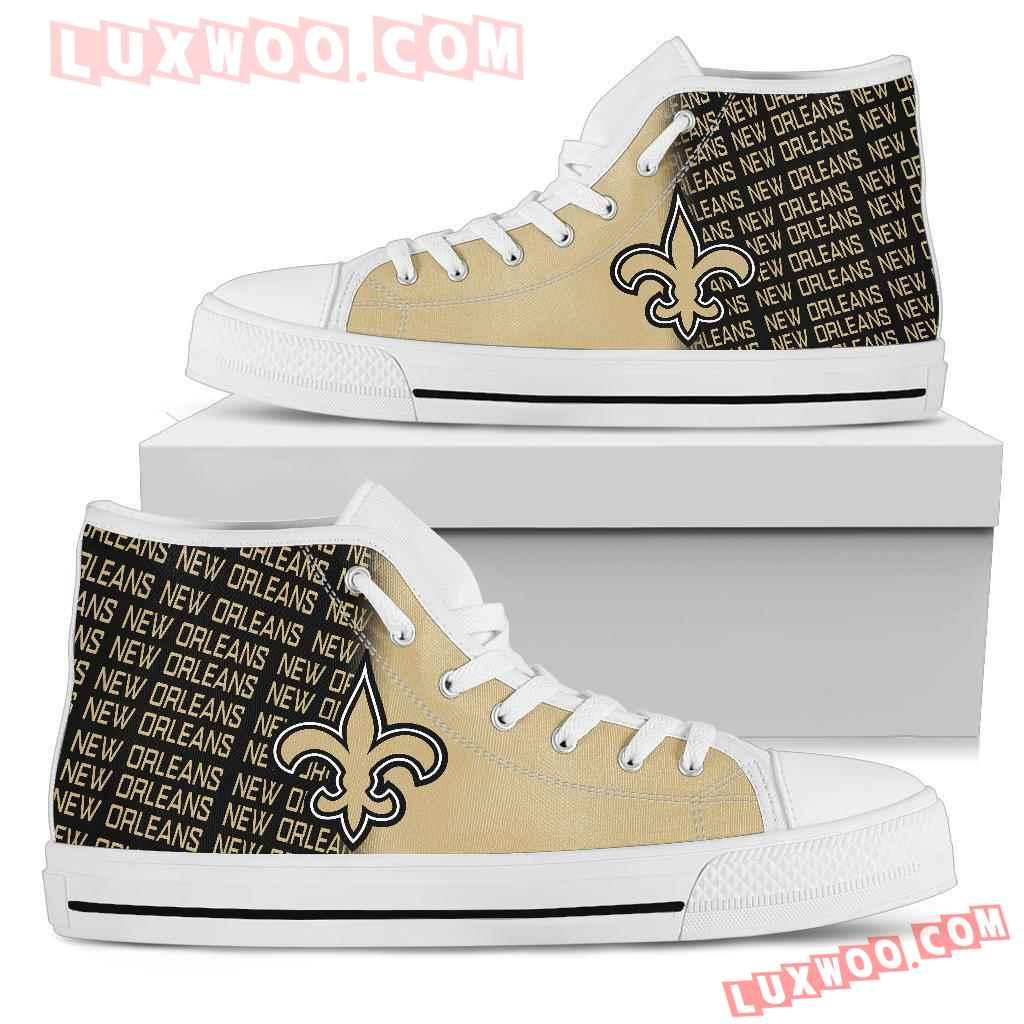 Nfl New Orleans Saints High Top Shoes Sneaker Sport V1