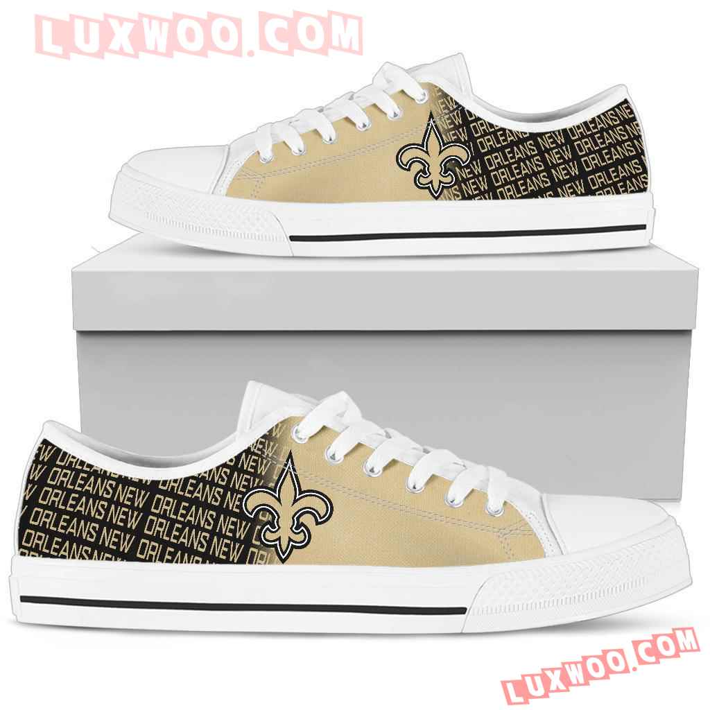 Nfl New Orleans Saints Low Top Shoes Sneaker Sport V2