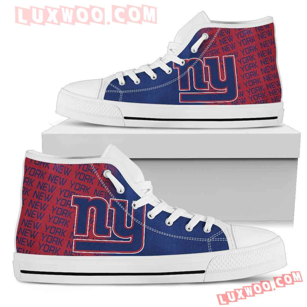 Nfl New York Giants High Top Shoes Sneaker Sport V1