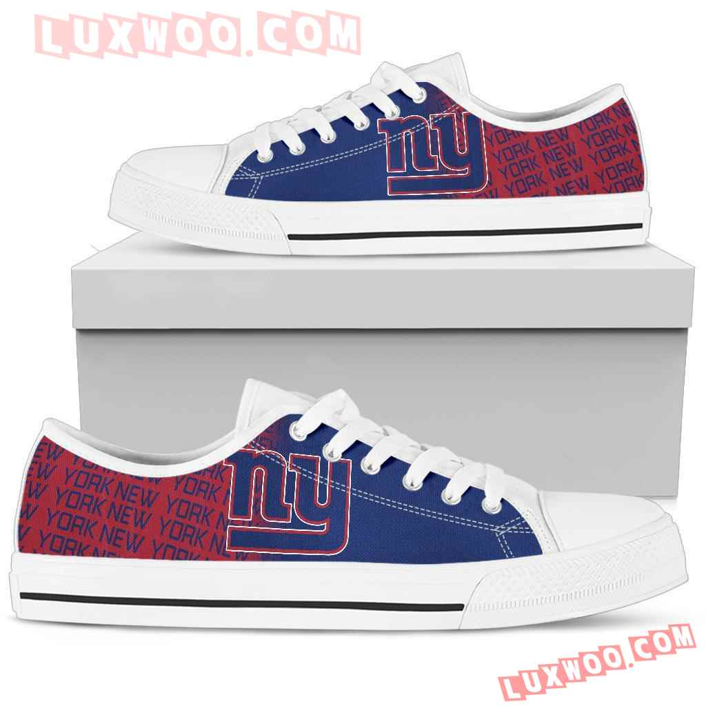 Nfl New York Giants Low Top Shoes Sneaker Sport V 1