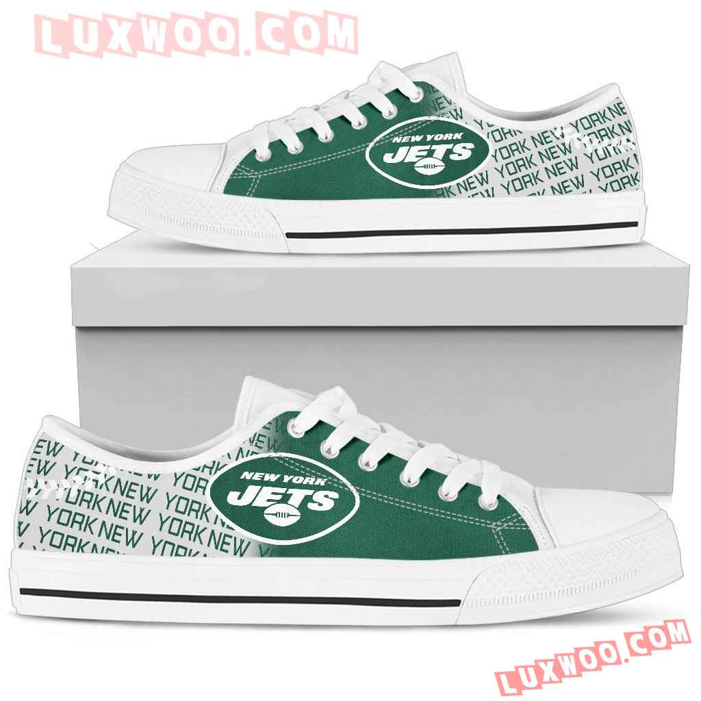 Nfl New York Jets Low Top Shoes Sneaker Sport V2