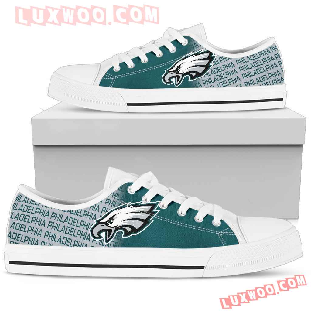 Nfl Philadelphia Eagles Low Top Shoes Sneaker Sport V2