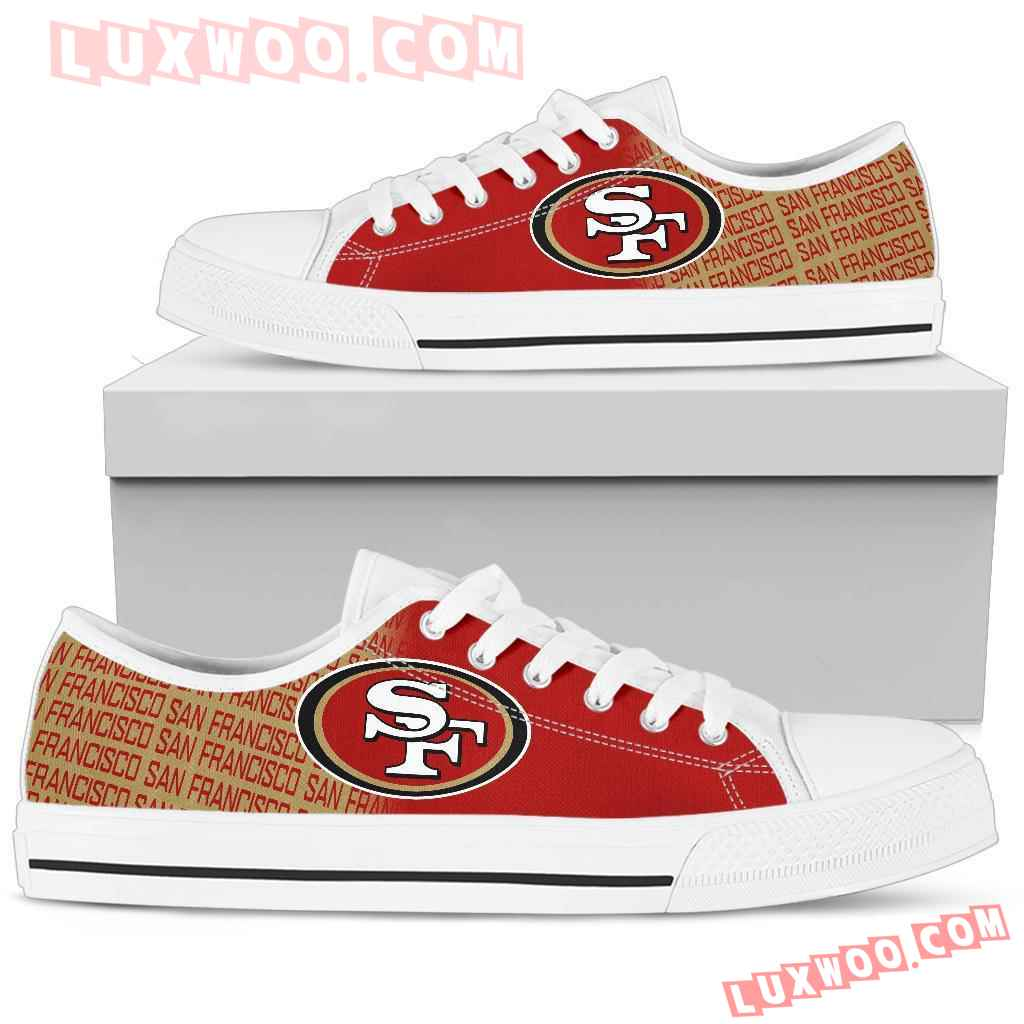 Nfl San Francisco 49ers Low Top Shoes Sneaker Sport V1