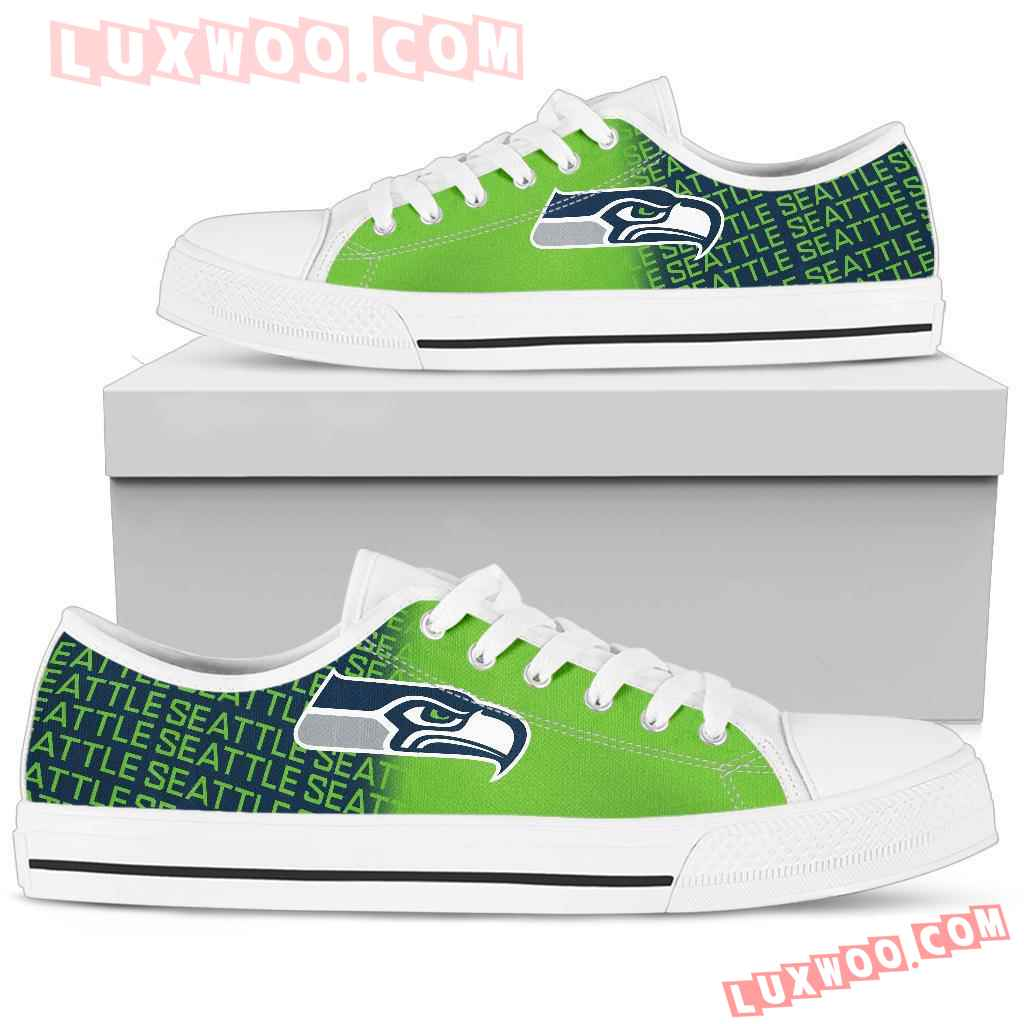 Nfl Seattle Seahawks Low Top Shoes Sneaker Sport V2