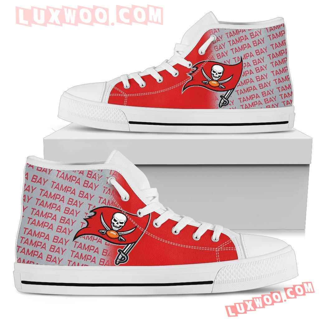 Nfl Tampa Bay Buccaneers High Top Shoes Sneaker Sport V1
