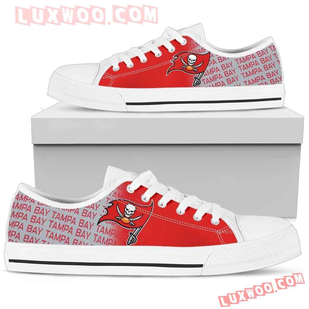 Nfl Tampa Bay Buccaneers Low Top Shoes Sneaker Sport V2