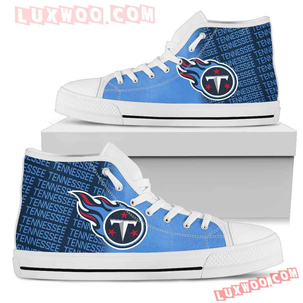 Nfl Tennessee Titans High Top Shoes Sneaker Sport V1