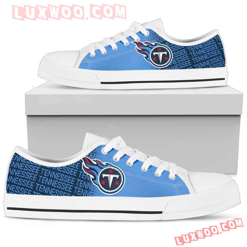 Nfl Tennessee Titans Low Top Shoes Sneaker Sport V1