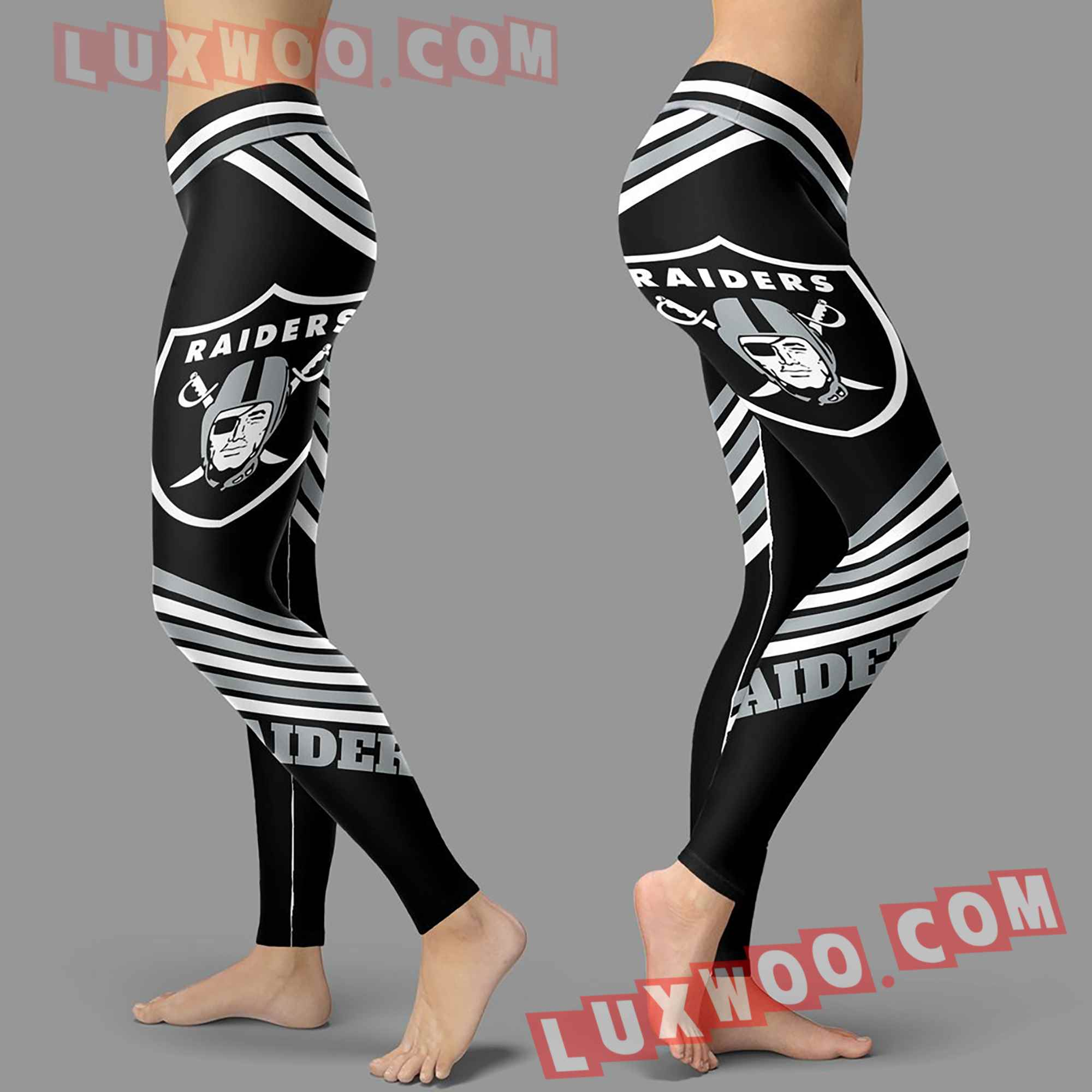 Nfl Oakland Raiders Leggings Custom All Over Print 3d Leggings V2
