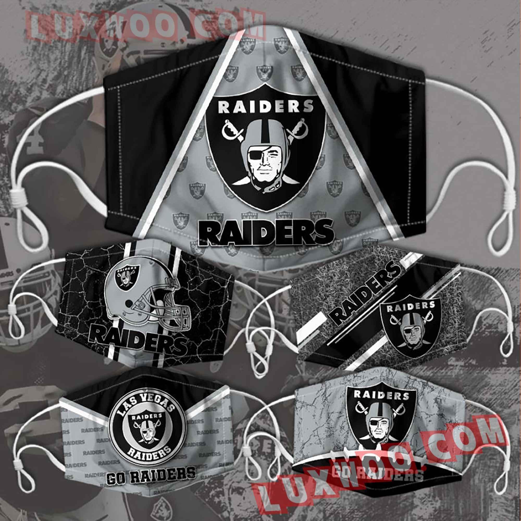 Oakland Raiders 3d Face Mask Combo 5 V2