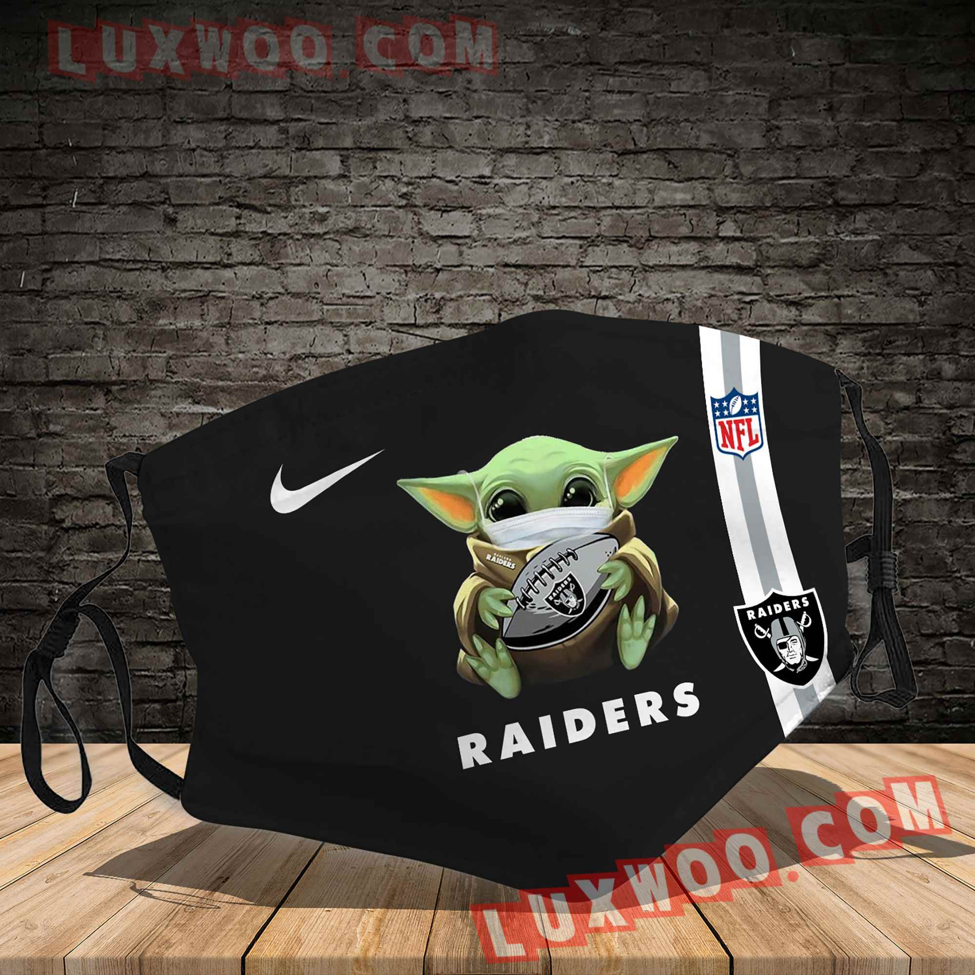 Oakland Raiders 3d Face Mask V10