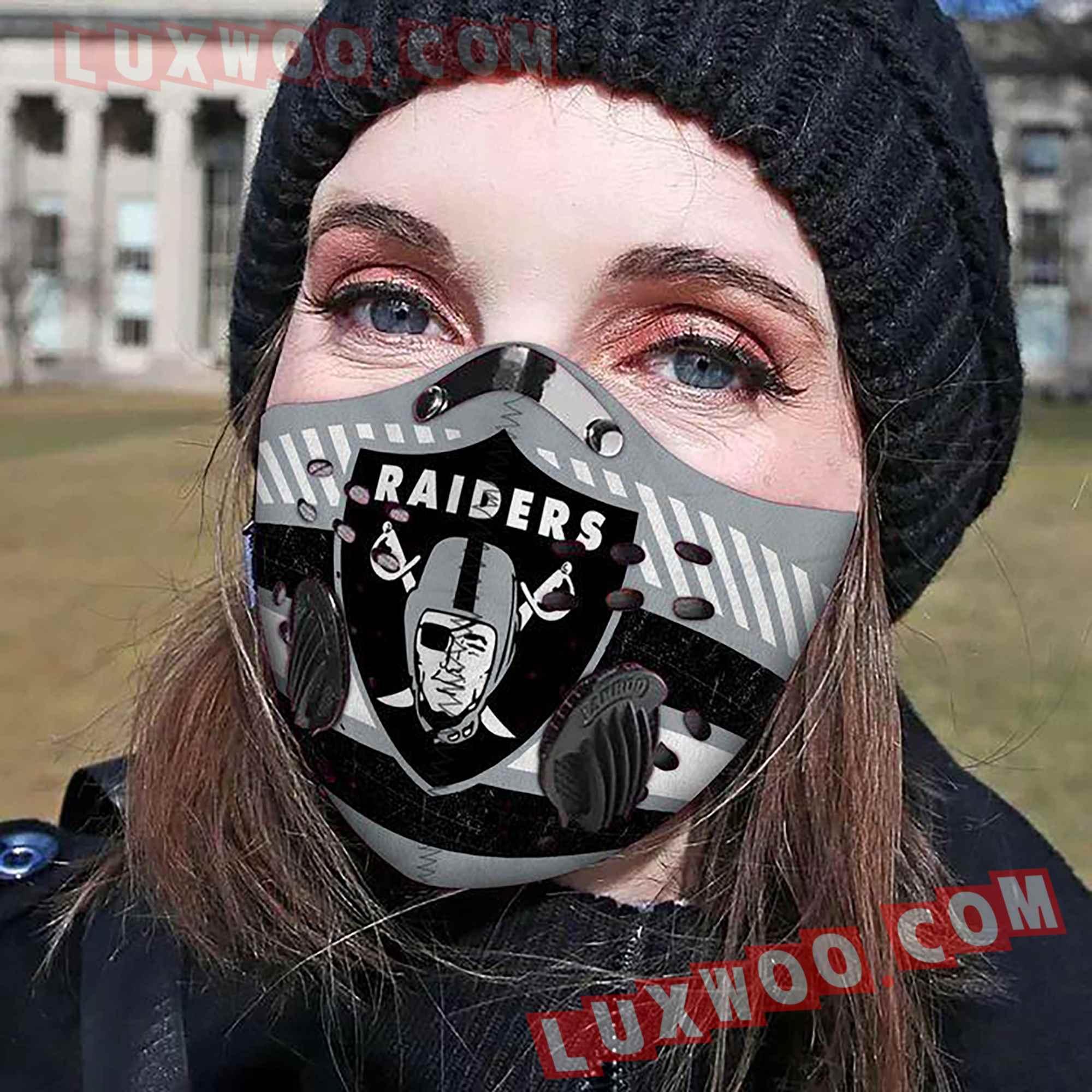 Oakland Raiders 3d Face Mask V7